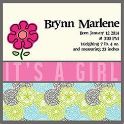 It's a Girl! Birth Announcement