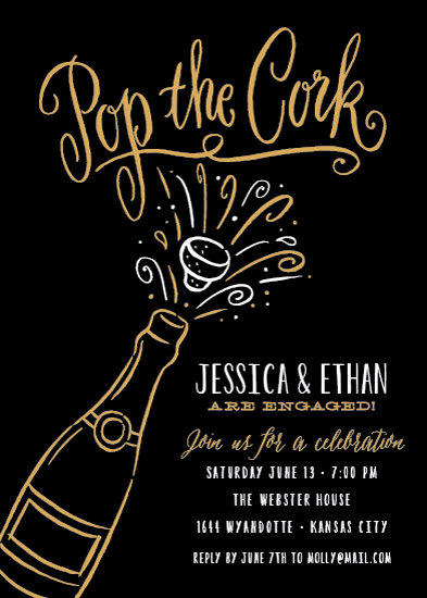 invitations - Pop the Cork by Laura Bolter Design