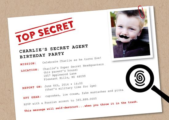 party invitations - Secret Agent at Minted.com