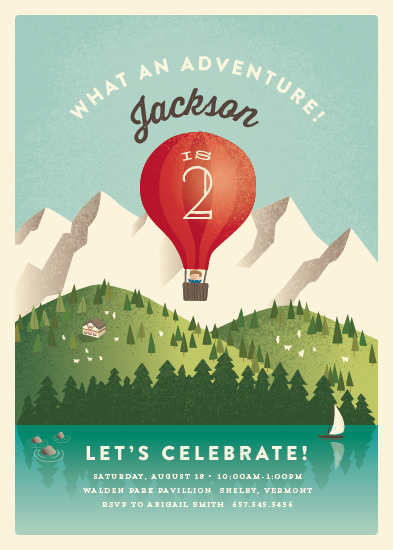 party invitations - Greatest Adventure by Jennifer Wick