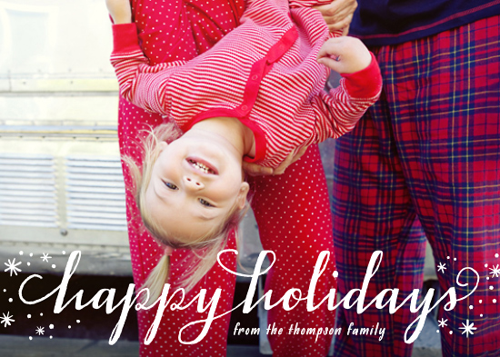 holiday photo cards - Holiday Flurries
