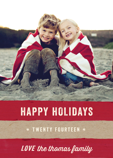 holiday photo cards - Kraft and Cane