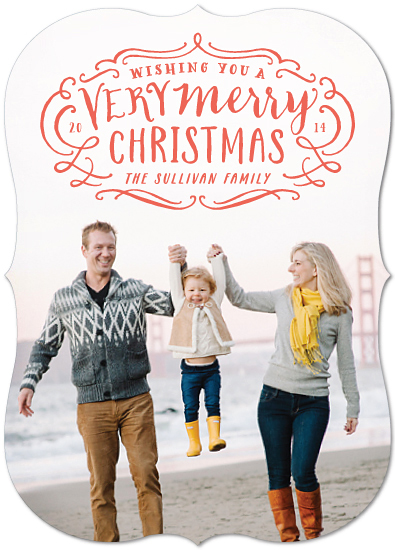 holiday photo cards - Very Merry Flourish