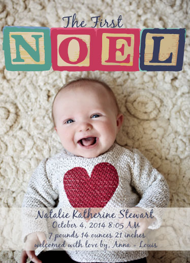 holiday photo cards - Noel Blocks