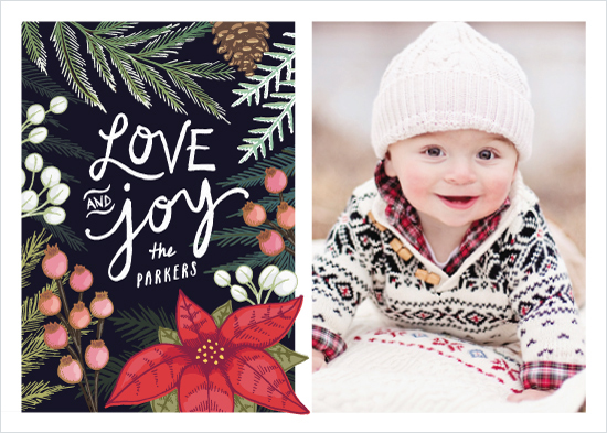 holiday photo cards - Festive Floral