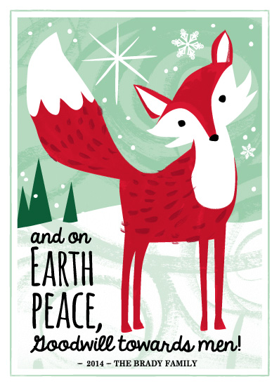 non-photo holiday cards - Christmas Fox