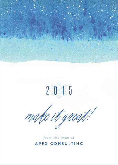 business holiday cards - Winter Dip Dye
