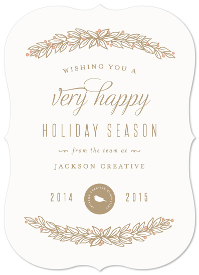 business holiday cards - Elegant Garland