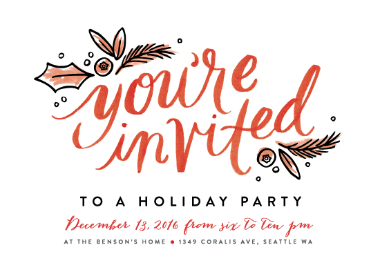 party invitations - You're Invited Script at Minted.com