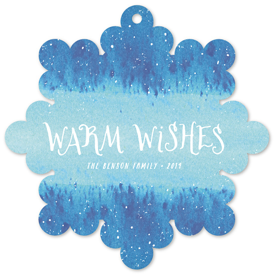holiday ornament cards - Winter Wash