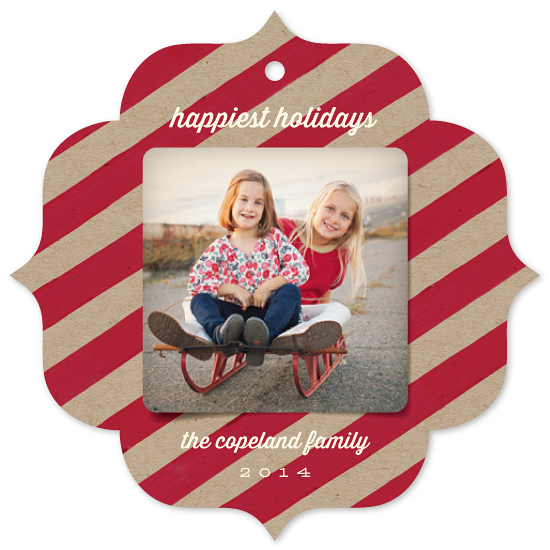holiday ornament cards - Holiday Stripes