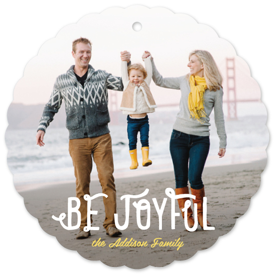 holiday ornament cards - Be Joyful
