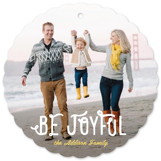 holiday ornament cards - Be Joyful