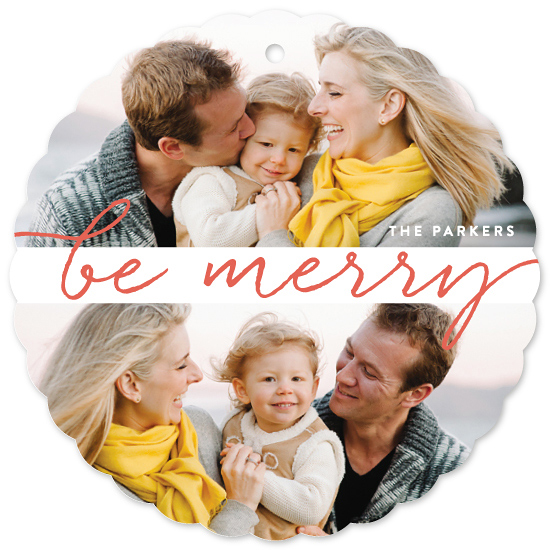 holiday ornament cards - Double Merry