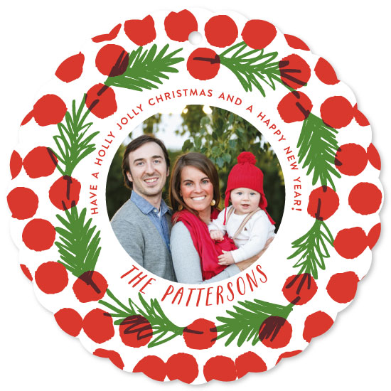 holiday photo cards - Berries & Pine by Oscar & Emma