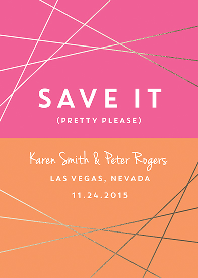 save the date cards - Save It Don't Spray It