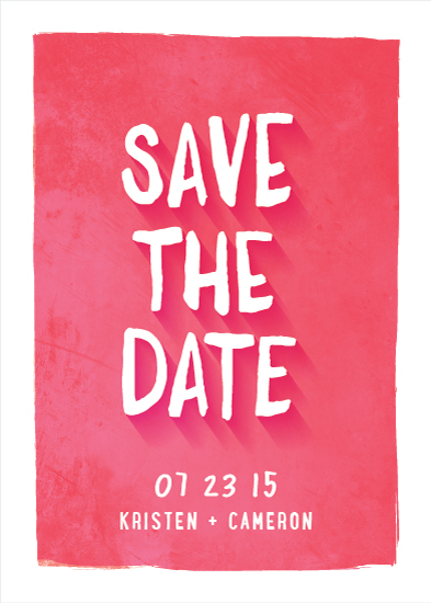 save the date cards - Bold Brush Type