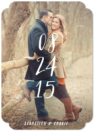 save the date cards - Just the Numbers