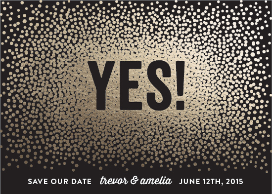 save the date cards - Glittering Yes!