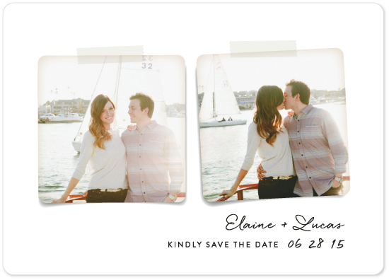 save the date cards - Two Become One
