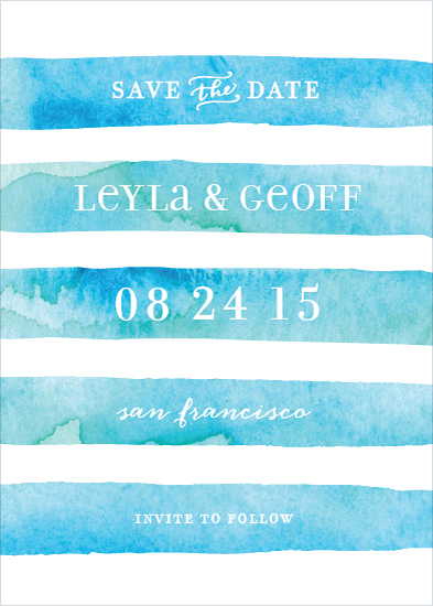 save the date cards - Nautical Stripe