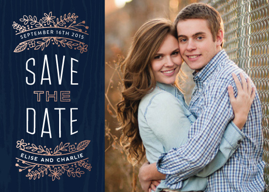 save the date cards - Into the Woods