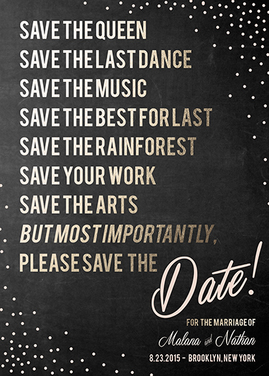 save the date cards - The Importance of Saving