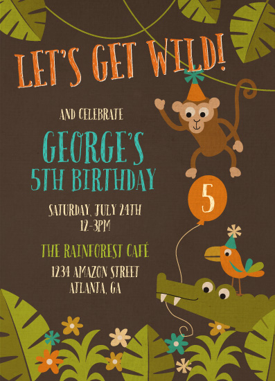cards - Let's Get Wild Jungle Party at Minted.com