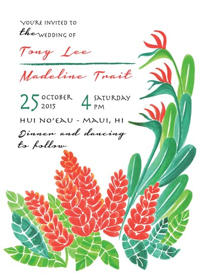 wedding invitations - Tropical Celebration