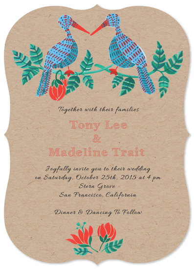 wedding invitations - Two Birds of a Feather