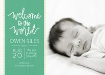 Hand Lettered Welcome by Green Tie Studio