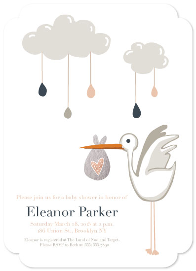 baby shower invitations - Storm and Cozy