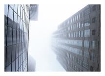 Chicago in fog by Super Unison
