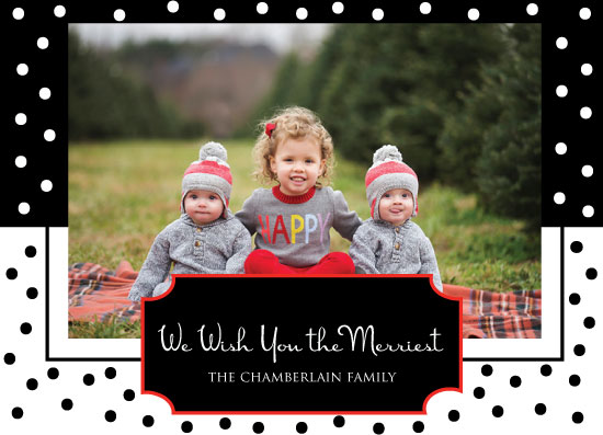 holiday photo cards - The Merriest Christmas