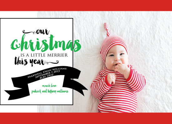 holiday photo cards - Merrier This Year