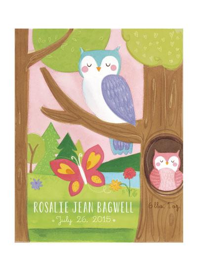 art prints - Owl Announcement