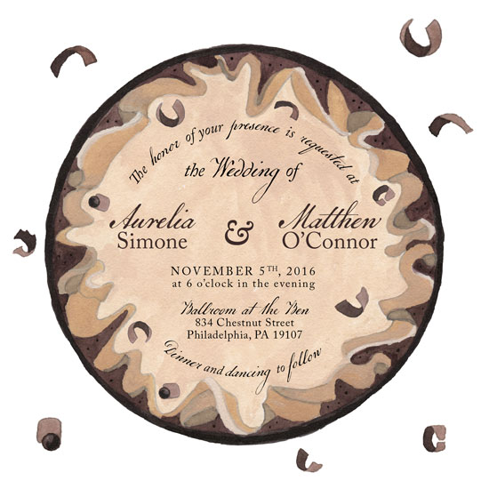 wedding invitations - Chocolate Mousse Tart