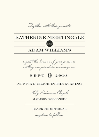 wedding invitations - Sophisticate