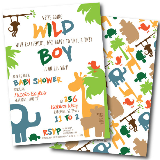 baby shower invitations - Wild Boy Baby Shower
