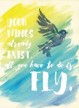 Find Your Wings by Juniper Berry Design