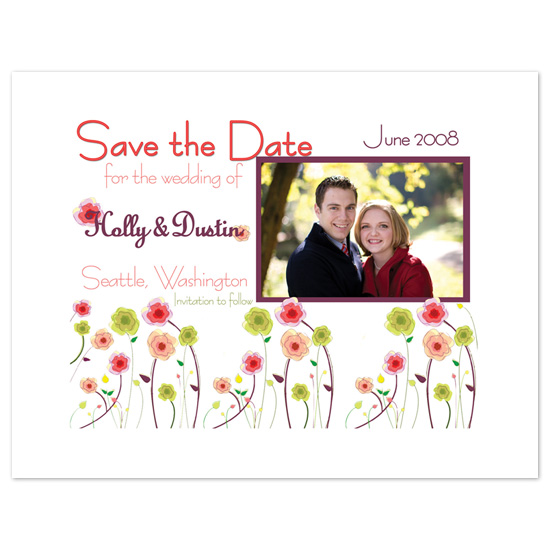save the date cards - Flower Garden Party by Melissa Bollinger