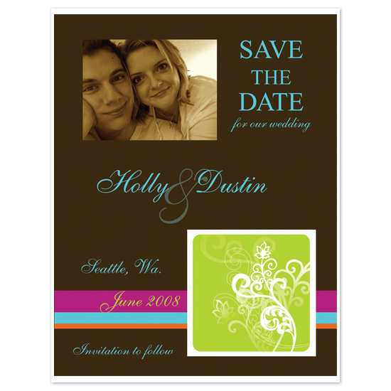 save the date cards - Modern Garden of Whimsy by Melissa Bollinger