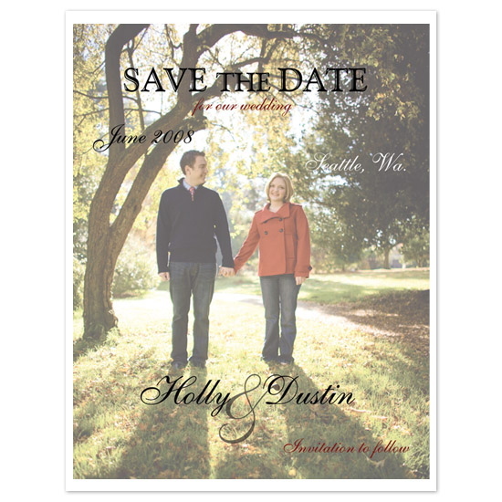 save the date cards - Oh Happy Day by Melissa Bollinger