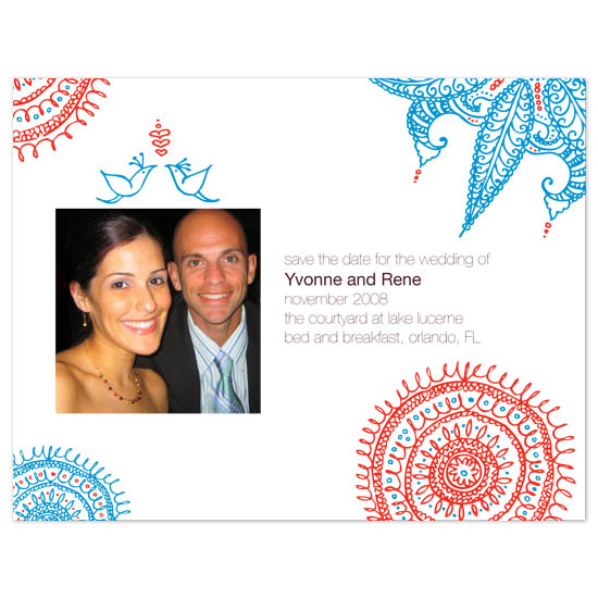 save the date cards - Exotic Lovebirds by Brisbois Designs