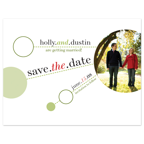 save the date cards - Whimsical Spheres & Dashes by Cheer Up Press
