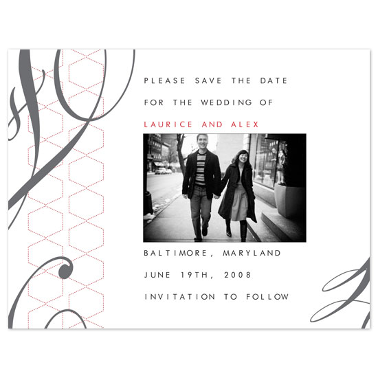 save the date cards - St. Moritz by Pixie Stick Press