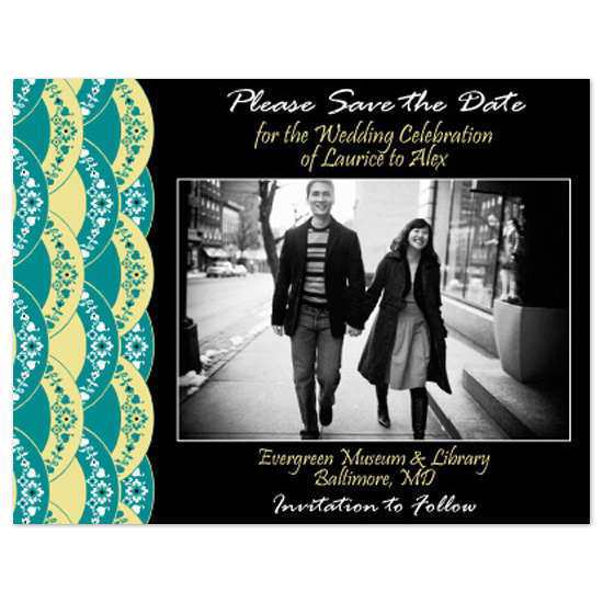 save the date cards - 'Fans' of Asia by Danielle Tannenbaum