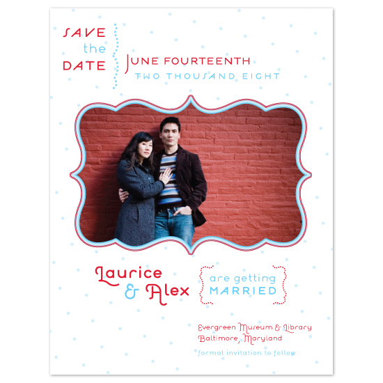 save the date cards - Modern Dottie by Louella Press