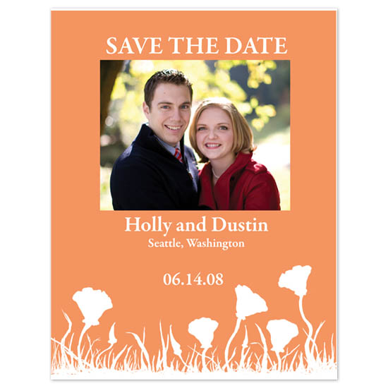 save the date cards - California Poppies by Ri.S.K./Little Yeti