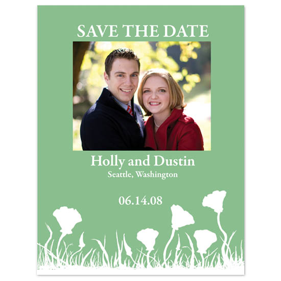 save the date cards - Poppy Fields by Ri.S.K./Little Yeti